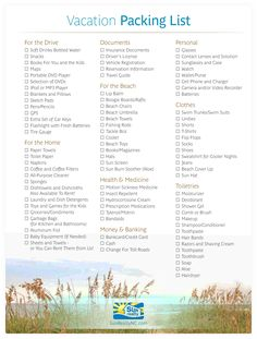 Use our handy Vacation Checklist to help you pack for your Outer Banks NC vacation.