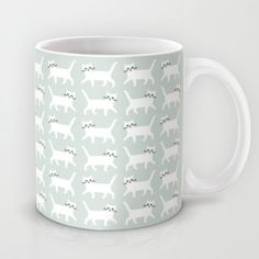 White cats Mug by Audrey Jeanne