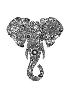 Geometric Elephant Illustration by Jessica Kaminski, via Behance