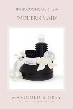 Not everyone is a fan of pink and girly things. No worries! Our signature 'Modern Maid' is designed especially with them in mind. With touches of black, white, and glam all over, this gift box is sure to turn heads and stand out from the crowd.