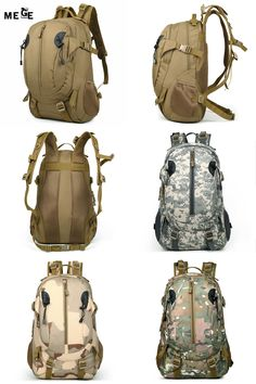 [Visit to Buy] MEGE Men Women Outdoor Military Army Tactical Backpack Trekking Sport Travel Rucksacks Camping Hiking Hunting Camouflage Bags #Advertisement