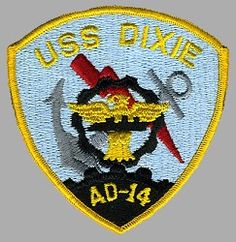 USS DIXIE AD 14 Silhouette Decal U S Navy USN Military