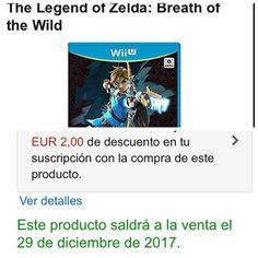En España tendrán a Breath of the Wild este 29 de diciembre (según Amazon.es) #breathofthewild #zelda #wiiu