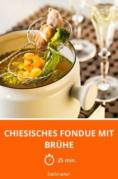 Chiesisches Fondue mit Brühe - smarter - Zeit: 25 Min. | eatsmarter.de