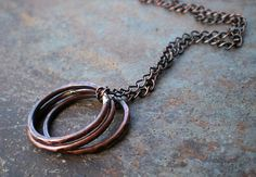 Handcrafted Rustic Elegance  www.BalsamrootRanch.com  Simplicity!  Copper Necklace on Antiqued Chain by BalsamrootRanch, $39.00