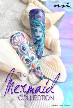 Nails by: Jana Warnke   Mermaids Collection | Assorted Secrets Shades, Secrets Sparkle Glitters, Secrets Removable Gels