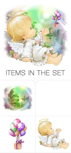 """Little Angel 😇"" by mlkdmr ❤ liked on Polyvore featuring art"