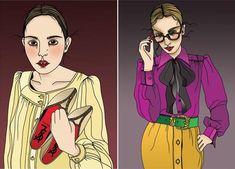 fashion illustrations by Liselotte Watkins