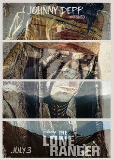 """From the great beyond a vision told me a great warrior would help me on  my quest."" Click the image to see the animated gif.     #theloneranger #loneranger #JohnnyDepp #depp #movie #movies #celebrity #celeb #celebs #actor #poster #posters #movieposter #movieposters"