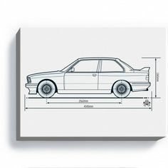 PistonHeads BMW M3 E30 Art Print Bmw Vintage, Bmw E30 M3, Bavarian Motor Works, Motorcycle Companies, Car Illustration, Car Drawings, Bmw 3 Series, Car Engine, Bmw Cars