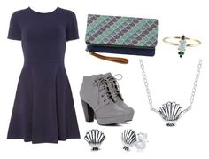 """""""Mermaid Gal!"""" by vanidclothing ❤ liked on Polyvore featuring Dorothy Perkins and Disney"""