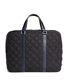 Brooks Brothers Men's Quilted Briefcase