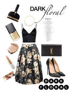 """""""Chic with Dark Floral"""" by nancy-kou on Polyvore featuring Christian Louboutin, T By Alexander Wang, Yves Saint Laurent, Tom Ford, NARS Cosmetics, Mariah Carey, NYX and Michael Kors"""