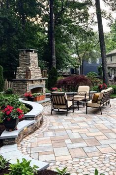 From contemporary patterns to decadently old-fashioned layouts, discover the top 60 best paver patio ideas. Stone Patio Designs, Outdoor Patio Designs, Patio Ideas, Backyard Designs, Concrete Patio Designs, Paver Designs, Concrete Backyard, Small Backyard Patio, Precast Concrete