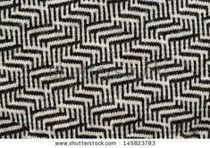 hand knit wool zigzag pattern texture black white backdrop. by sauletas, via Shutterstock