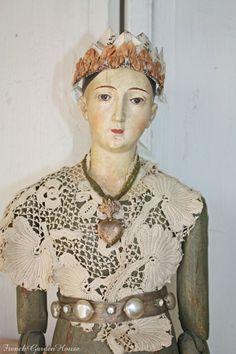 Antique Reproduction Mannequin Santos French Lace