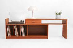 Hindsvik   Mid Century Modern Furniture, Home Decor and Design Shop - Vintage Teak Record Cabinet