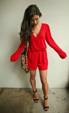 The HONEYBEE: Valentines Day Look (Red Romper under $35!) I want this for valentines night!