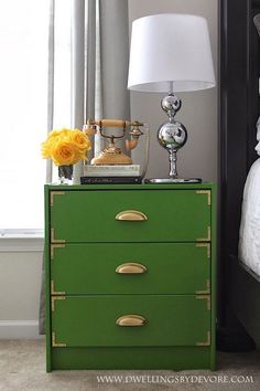 Another Ikea dresser hack, this time a Rast dresser becomes a campaign style one in the hands of Molly Madfis Designs and detailed by Little Green Notebook. Description from pinterest.com. I searched for this on bing.com/images