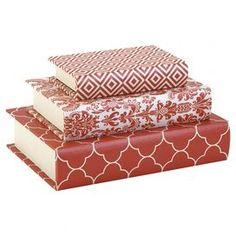 3-Piece Fitzgerald Book Box Set in Orange