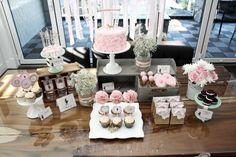Vintage Cowgirl Birthday Party - what a fab dessert table!