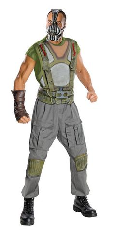 880670 Deluxe Bane The Dark Knight Rises Batman Costume Includes:Bane Costume Includes Muscle Chest Jumpsuit, Mask , Molded Belt and molded gauntlet. Color: As Shown Sizes: Cosplay Costumes For Men, Villain Costumes, Buy Costumes, Costume Shop, Movie Costumes, Adult Costumes, Cosplay Ideas, Bane Batman