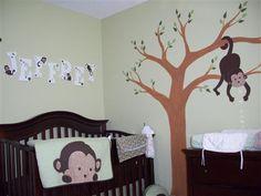 """Monkeying Around"" themed nursery room"