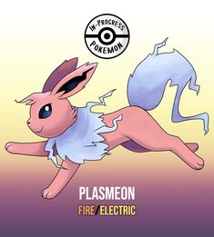 Plasmeon (Fire/Electric) - On rare occasion, an Eevee can be affected by more than one environmental factor, and reacts to grow into a new, rare evolution. If an Eevee lives in an area that receives a lot of heat lightning, or is otherwise. Pokemon Fusion Art, Type Pokemon, O Pokemon, Pokemon Comics, Pokemon Memes, Pokemon Fan Art, Pokemon Rare, Satoshi Pokemon, Cute Pokemon Wallpaper