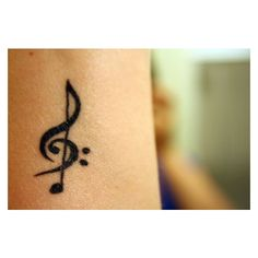 treble clef, bass clef a note ❤ liked on Polyvore featuring accessories and tattoo