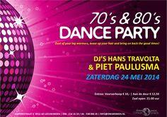 Flyer voor Facebook voor de 70's & 80's Dance Party bij Dance Centre Omar Smids