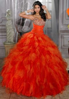 Tiffany Quince Dress 26674 @ Peaches Boutique  Available Colors:   -Persimmon/Orange,  -Purple/Orchid Back Style: - Corset Lace up, Straight Across Material: - Beaded,  -Organza,  -Taffeta,  -Tulle