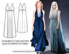 Daenerys Targaryen Qarth Dress Cosplay Costume TUTORIAL and PATTERN http://princess-and-dragon.blogspot.it/2013/08/daenerys-targaryen-qarth-dress-cosplay.html
