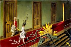 Today is the birthday of famed female artist Dorothea Tanning. The Surrealist painter and wife of fellow artist Max Ernst would be 102 years if she were . Max Ernst, Joan Miro, Women Artist, Dorothea Tanning, A Little Night Music, Louise Bourgeois, Fantastic Art, Amazing, Surreal Art