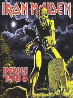 Iron Maiden-Ipswich 1983  Poster  Print  repro..   eBay