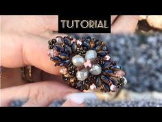 Anteprima anello Praise due modelli Diy Beaded Rings, Beaded Earrings, Beaded Bracelets, Jewelry Making Tutorials, Beading Tutorials, Wire Jewelry, Handmade Jewelry, Super Duo, Ring Tutorial