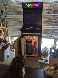 Introducing a modular arcade kegerator The Backstory I recenly got into doing random stuff with arcades. In October 2018 I got ahold of a completely … Cool Diy Projects, Projects To Try, Computer Build, Arcade Machine, Custom Cabinets, T5, Fun Diy, Arcade Games, Videogames