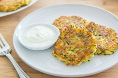 Zucchini Fritters are quick and easy to make, and involve only a handful of simple ingredients. Also dairy-free, and toddler friendly!