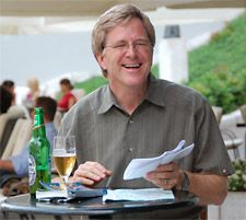 "Rick Steves is one of our all-time favorite travel figures. His ""Travel in Europe"" shows and many travel books have introduced thousands to adventures in Europe and beyond. His warm demeanor and emphasis on connecting with people make him a travel hero. Best of all, he's a huge proponent of study abroad: http://youtu.be/sk0ocxw58PM."