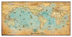 Antique Style World Map