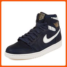 ffec4036a99894 Nike Mens Air Jordan 1 Retro High Jeter Midnight Navy Metallic Gold Leather  Athletic Sneakers Size 10.5 - Our favorite sneakers ( Amazon Partner-Link)