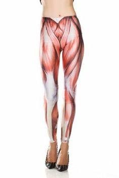 Amazon.com: Amour - Women Rock X-ray Skeleton Bone Skull Leggings Tights Black (Regular Size, Sci-Fi Punk Muscles): Clothing
