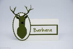 Aufstempeln!: Auf zur Jagd Emblem, Christmas Ornaments, Holiday Decor, Place Cards, Hunting, Christmas Jewelry, Christmas Decorations, Christmas Wedding Decorations