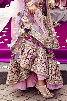 New Bridal Lehenga Pakistani Fashion Styles Ideas Indian Bridal Wear, Indian Wear, Indian Style, Pakistani Bridal, Bollywood Bridal, Asian Bridal, South Asian Wedding, Indian Dresses, Indian Outfits