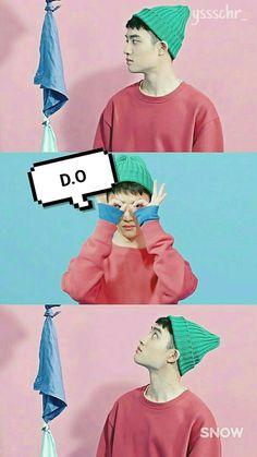 Wallpaper/Screenlock Kyungsoo EXO by me ❤ Kyungsoo, Kaisoo, Chanbaek, Exo Ot12, D O Exo, Bts And Exo, Daesung, Taemin, Taekook
