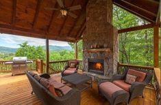 Enjoy Outdoor Living w/ Comfort and Views Blue Ridge Cabin Rentals, Georgia Cabin Rentals, Blue Ridge Mountains, Outdoor Furniture, Outdoor Decor, Lodges, Outdoor Living, Patio, Luxury