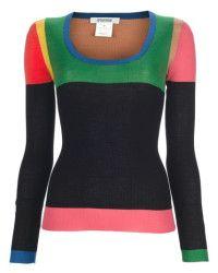 Sonia by sonia rykiel Colour Block Sweater in Multicolor (black)   Lyst