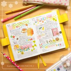 planner inspiration for people who love my happy planner and erin condren! Bullet Journal And Diary, Bullet Journal Layout, Bullet Journal Inspiration, Journal Ideas, Cute Journals, Cool Notebooks, Kawaii Planner, Happy Planner, Hobonichi Techo