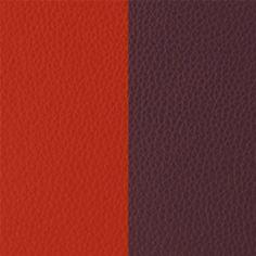 Cuir Les Georgettes Large Rouge orangé/Brun rosé