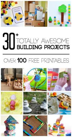 Transform your play with these totally awesome building projects for kids including science, math, engineering, language arts and social studies. Play Based Learning, Kids Learning Activities, Science Activities, Educational Activities, Fun Learning, Preschool Activities, Science Art, Preschool Kindergarten, Science Experiments