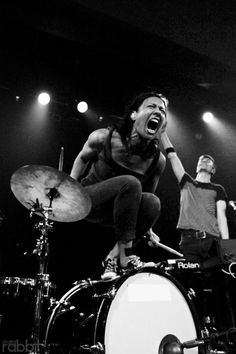 Matt And Kim.  Haven't heard them but this pic is sheer energy.